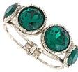 Gerard Yosca Emerald Crystal Bracelet by Max & Chole