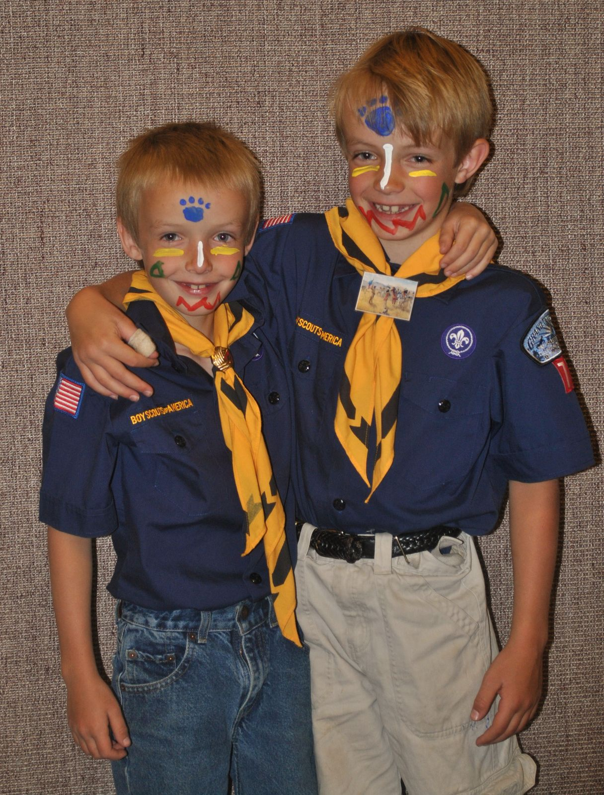 Bobcat Face Paint Ceremony