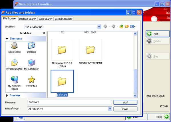 Menambah File dan folder