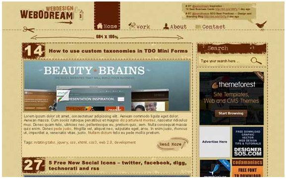 free grunge design tutorial web desain