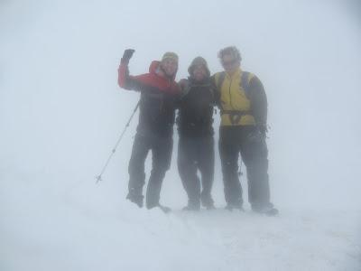Gipfelfoto - hier gab es leider keine Aussicht mehr