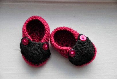 Two Button Baby Moccasins by Sophie Goss