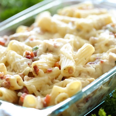 Bacon Chicken Veggie Rigatoni