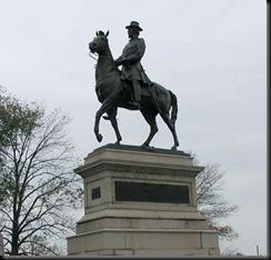 Hancock Statue on Cemetery Hill