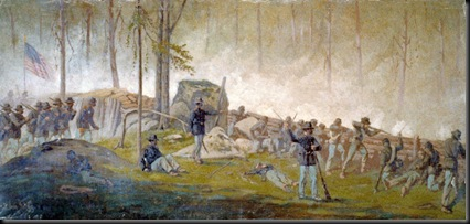 Union forces defend Culp's Hill-July 3