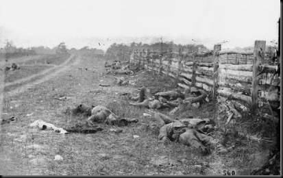 Confederate dead along the Hagerstown Pike