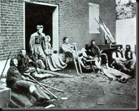 Wounded Union soldiers