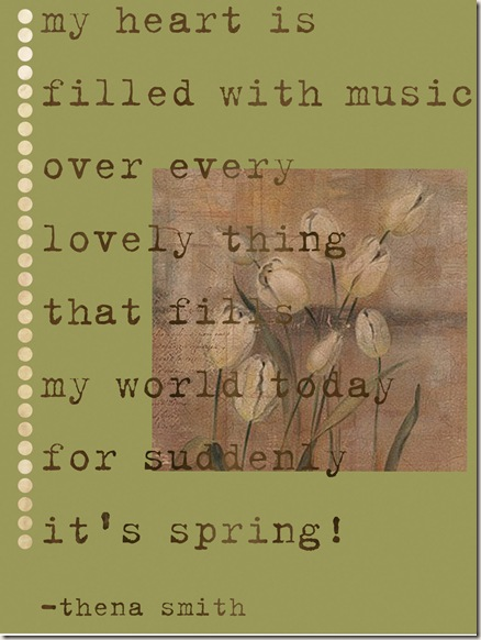 spring poem creation