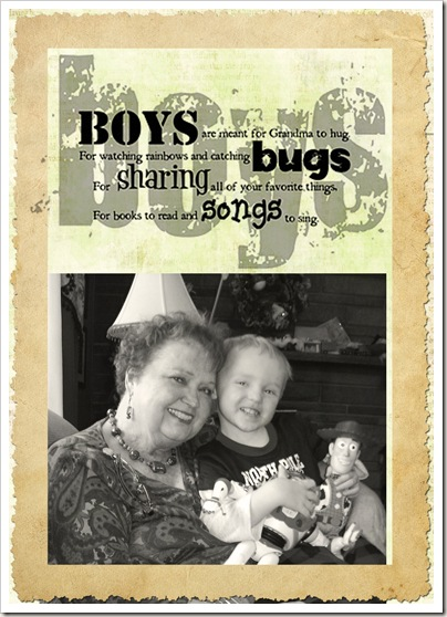 boys and grandmas