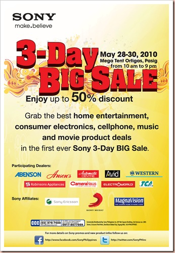 sony 3-day big sale