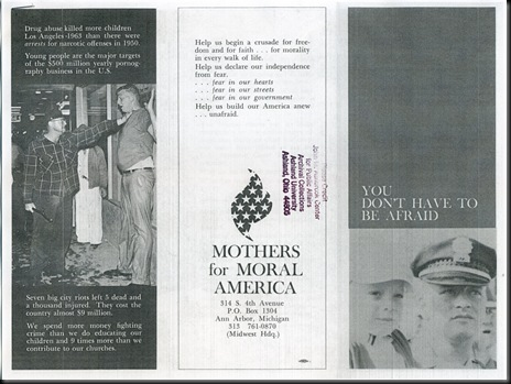 Mothers for Moral America-Pamphlet