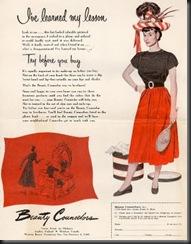 1950 Hat Ad