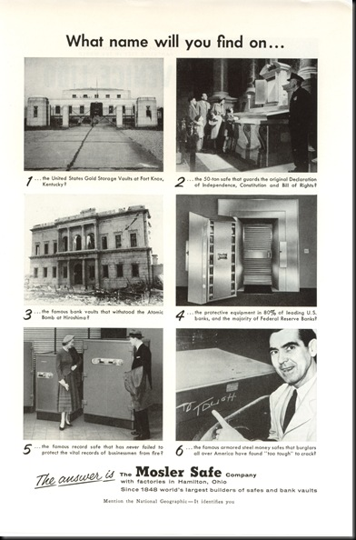 Mosler Safe-Magazine Ad