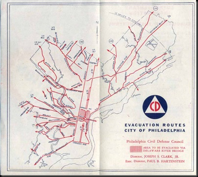 Philly Evac map