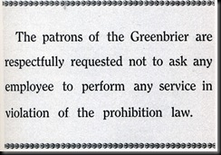 Greenbrier-Prohibition
