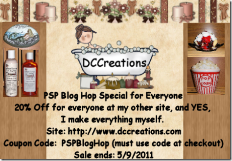 PSP Blog Hop Coupon