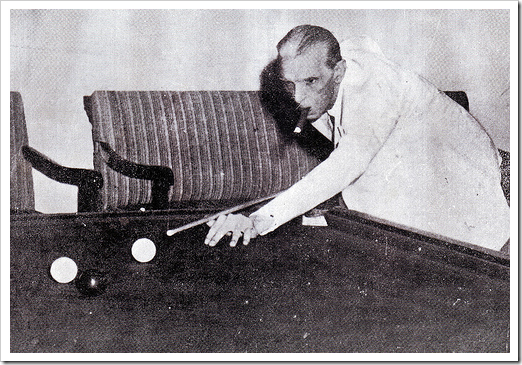 Mr Jinnah relaxing at billiards