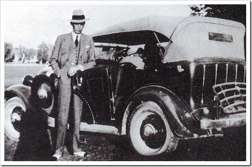 Quaid-e-Azam in immaculate dress outside his car
