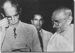 Jinnah with Gandhi