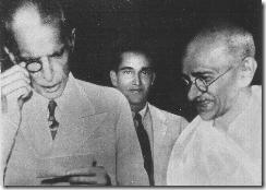 Jinnah with Gandhi