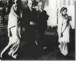 With Fatima Jinnah,Nawabzada & Begum Liaqat Ali Khan