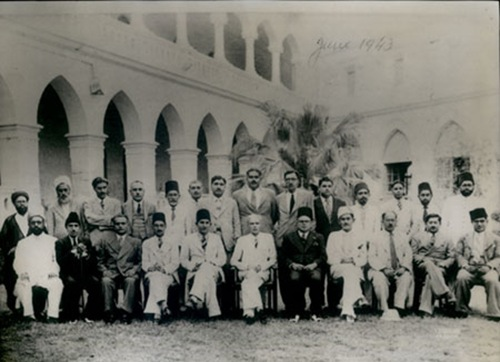 Quaid-e-Azam in his school Sindh Madressatul Islam - June 1943