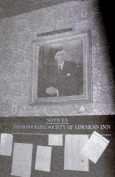 Quaid-e-Azam's portrait in Lincoln's Inn
