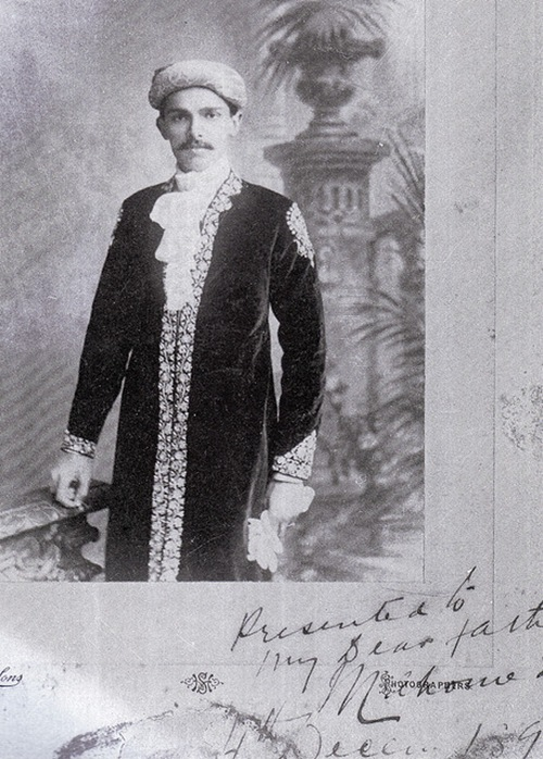 Mr Jinnah sends a picture to his father in December 1896
