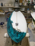 Tim Stafford Custom Surfboard - bonzer EVO6 Freakfish - polished