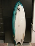 Tim Stafford Custom Surfboard - bonzer EVO6 Freakfish bottom