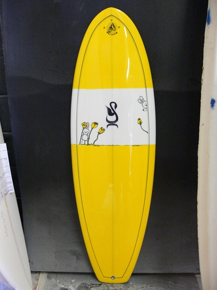 Childs Custom Surfboard - Tim Stafford Porpoise bonzer EVO3