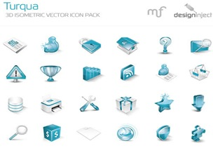Turqua 3d Isometric Vector Icon Pack