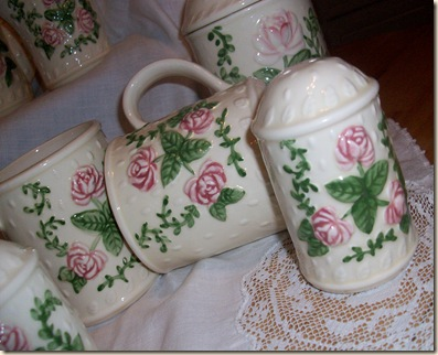 Pink Rose Tea Set for Pink Sat. 017