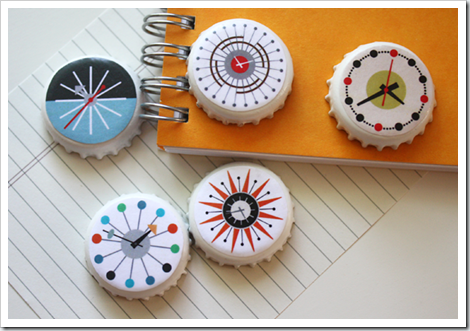 how about orange mid-century-modern-clocks-DIY