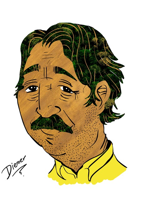 Caricatura - Chico Mendes - Diemer