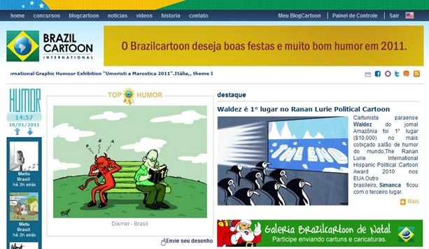 Diemer no BrazilCartoon 2011