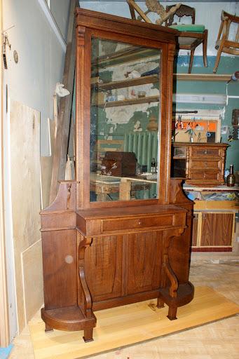 псише, отреставрировать зеркало, ремонт старинной мебели