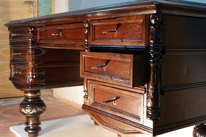 ящики после реставрации, новые ключи, реставрация антикварной мебели в спб