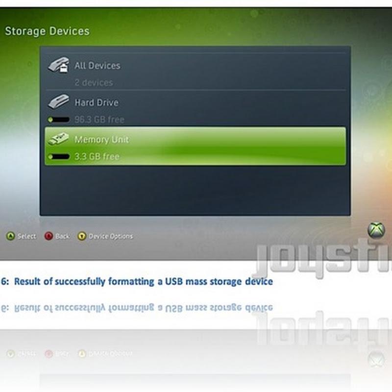 Microsoft dará soporte para almacenamiento USB en la Xbox 360