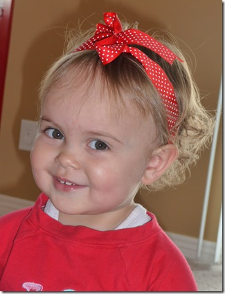 Hospital pics and pictures of Kylie with bow in hair 017