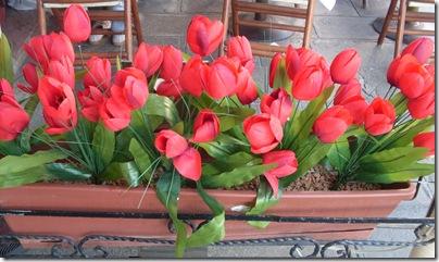 tulipani in un ristorante di venezia