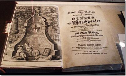 Splendida e antica edizione delle avventure del barone di Munchausen