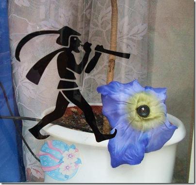 Il pifferaio su una vetrina di Hameln