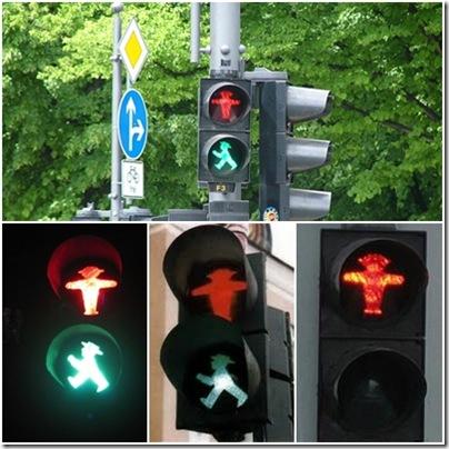 omini del semaforo a Berlino