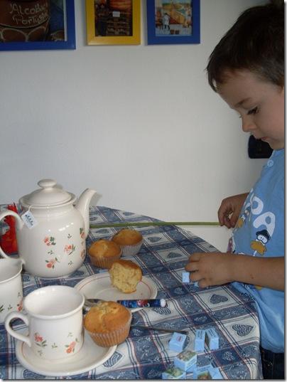 merenda con muffins alla mela