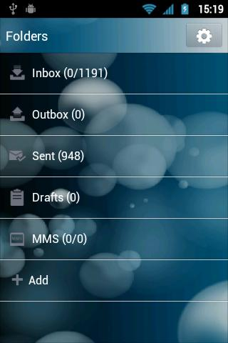 GO SMS Pro Abstract Again