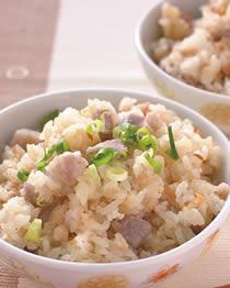 米食料理-芋頭油蔥飯