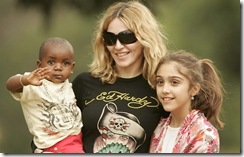 Madonna, David e Lourdes Maria