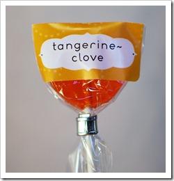 Tangerine-Clove lollipop