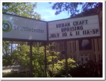 Urban Craft Uprising - sign at Seattle Center
